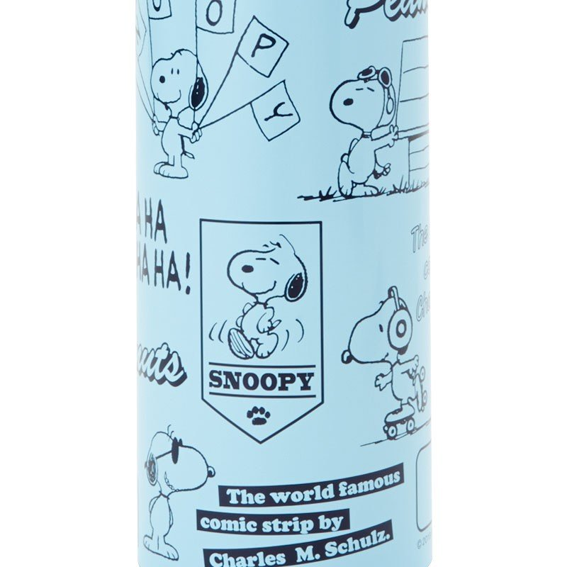 Snoopy Stainless Bottle 470ml with Shoulder & Cover PEANUTS Sanrio Japan