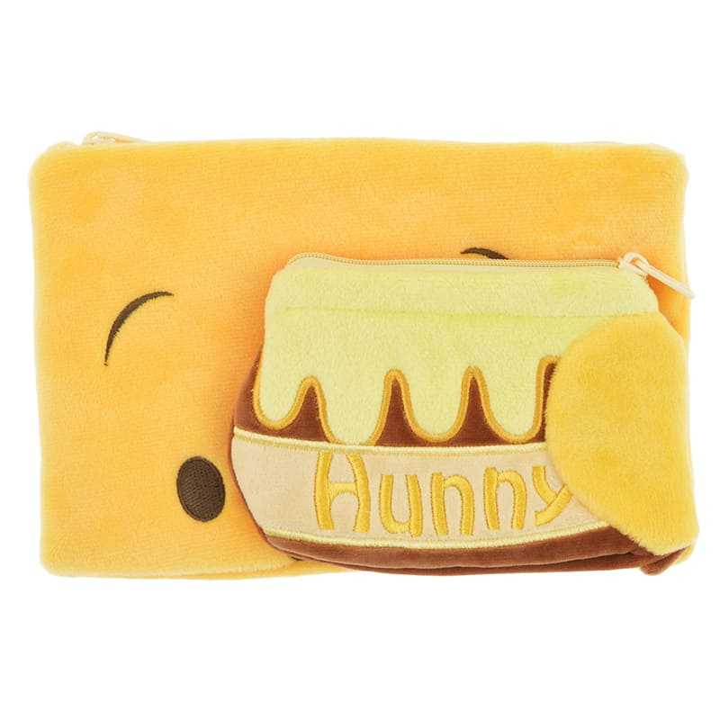 Winnie the Pooh Pen Case Pencil Pouch hide Disney Store Japan