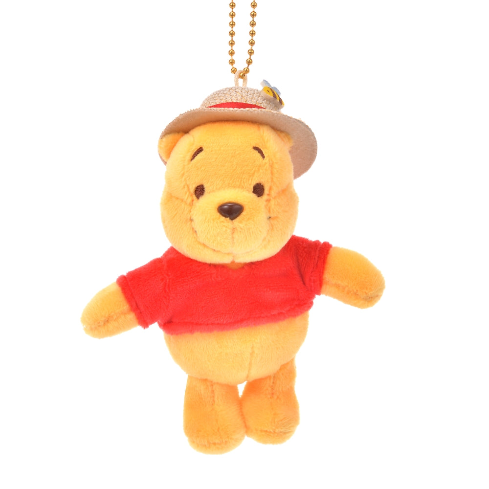 Winnie the Pooh Plush Keychain Straw Hat Disney Store Japan 2020