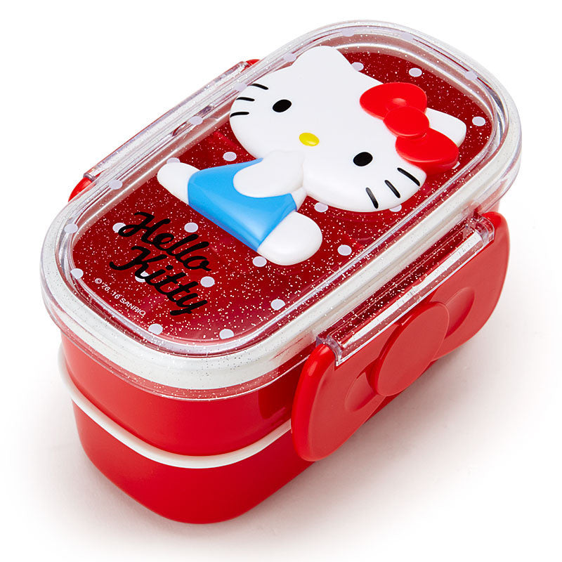 Hello Kitty Relief W 2-stage Lunch Case Bento Box Sanrio Japan