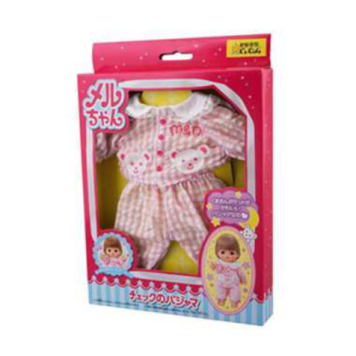 Costume for Mell chan Doll Plaid Pajama Pilot Japan