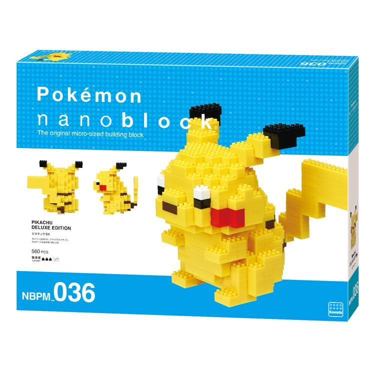 Pikachu Block Building Toy nanoblock Deluxe Edition Pokemon Japan