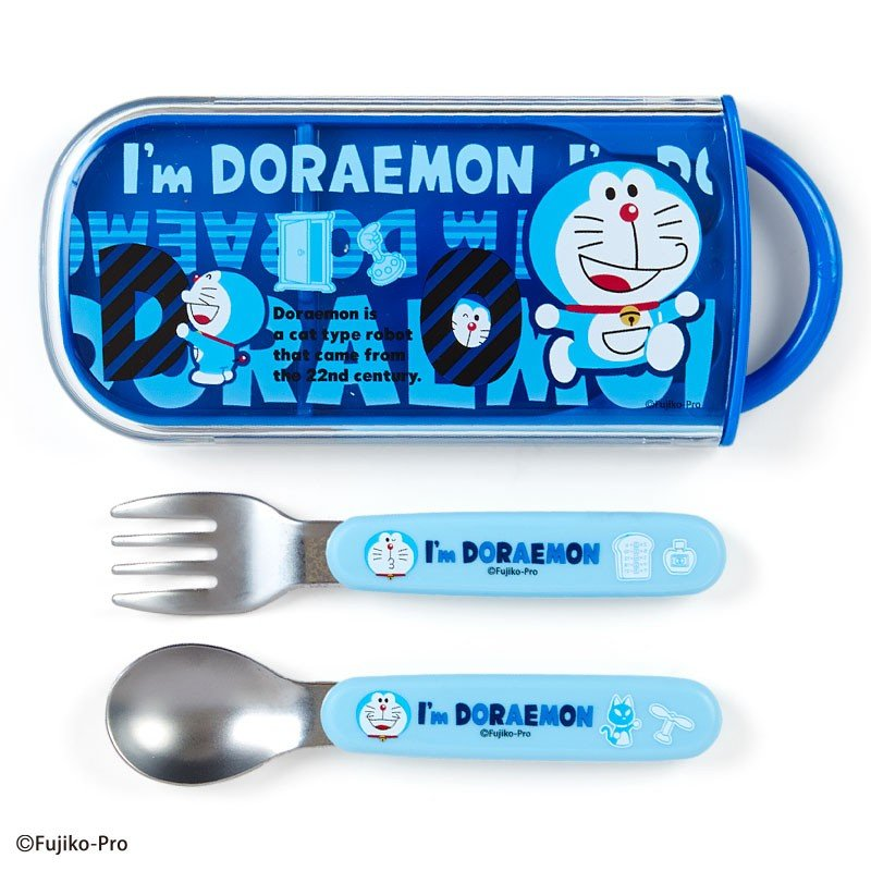 Spoon & Fork Set I'm DORAEMON Sanrio Japan