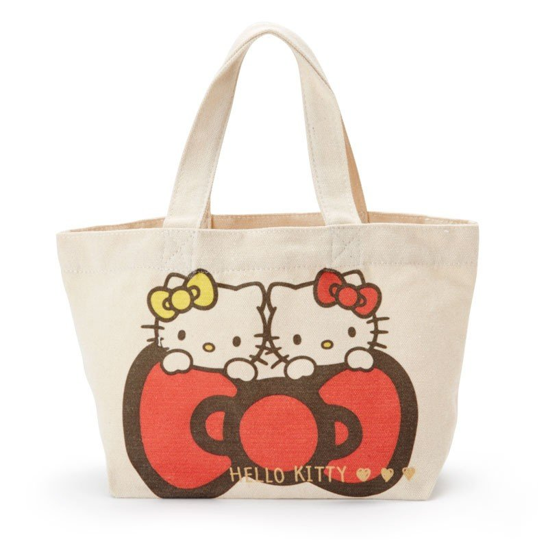 9b9d0985aa8a Hello Kitty   Mimmy Canvas mini Tote Bag Sanrio Japan