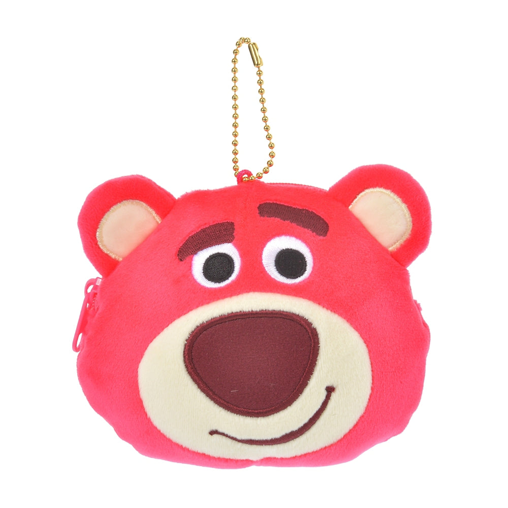 Toy Story LOTS O HUGGIN Bear Plush Keychain Pouch Mocchi Face Disney Store Japan