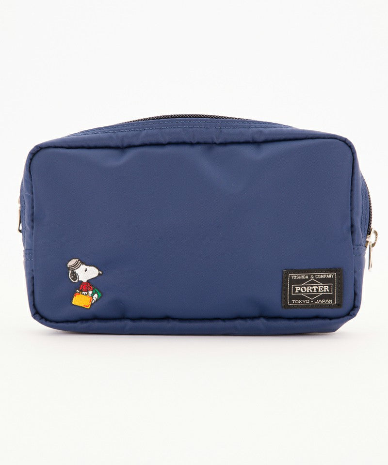 Snoopy Pouch Navy PEANUTS JOE PORTER Yoshida Bag Japan