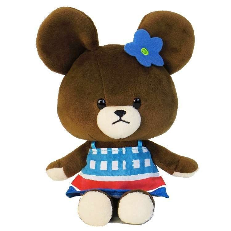 Jackie Soft Bean Doll Plush Vitamin Color Blue the bears' school Japan