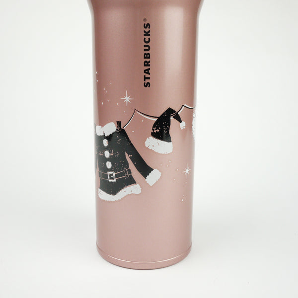 Starbucks Christmas Japan 2014 Handy Stainless Tumbler Xmas 480ml Rose Pink NEW