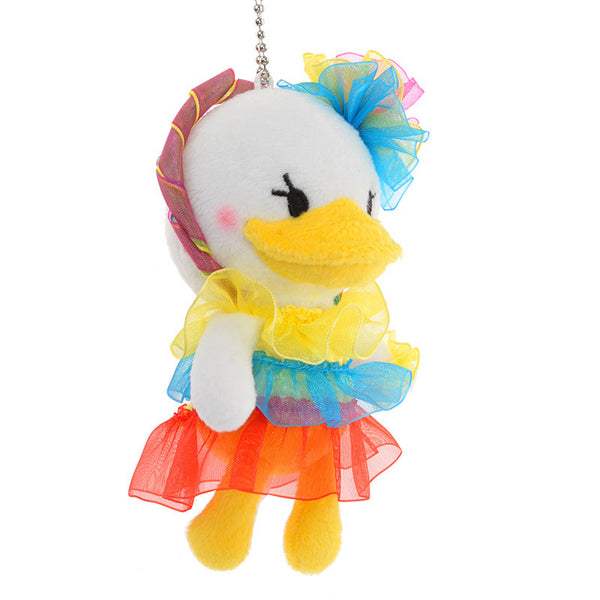 Plush Key Chain Badge - Graffiti Colorful Daisy Duck Disney Store Japan
