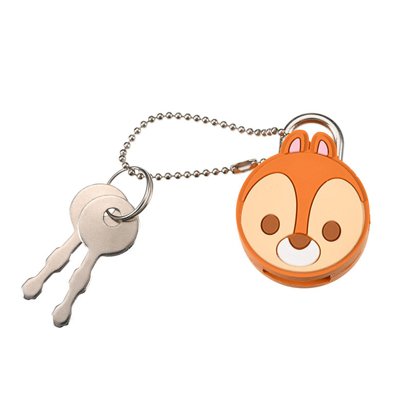 Chip Keychain Key Holder Face Padlock Disney Store Japan