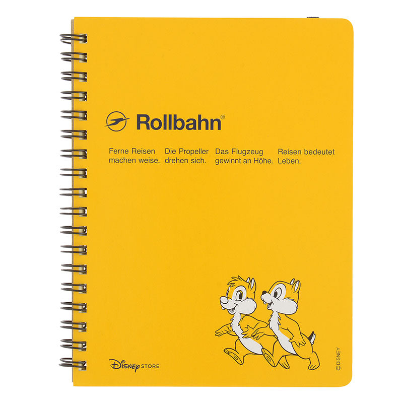 Chip & Dale Rollbahn Pocket Ring Notebook Disney Store Japan