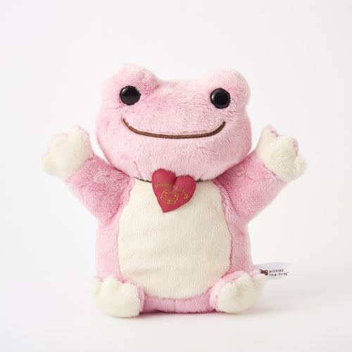 Pickles the Frog Plush Hand Puppet Pink Japan