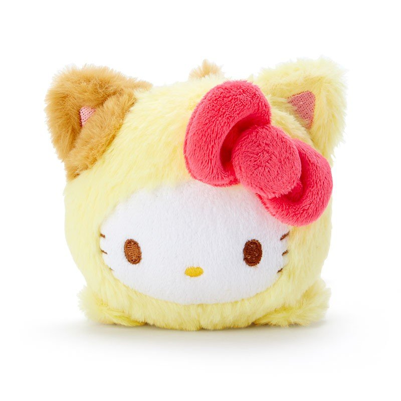 Hello Kitty Plush Doll Face Down Pose Happy Cat Sanrio Japan