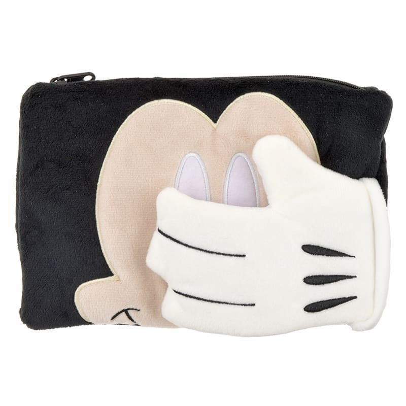 Mickey Pen Case Pencil Pouch hide Disney Store Japan