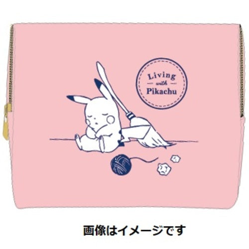 Pouch Pink Living with PIKACHU Pokemon Center Japan Original