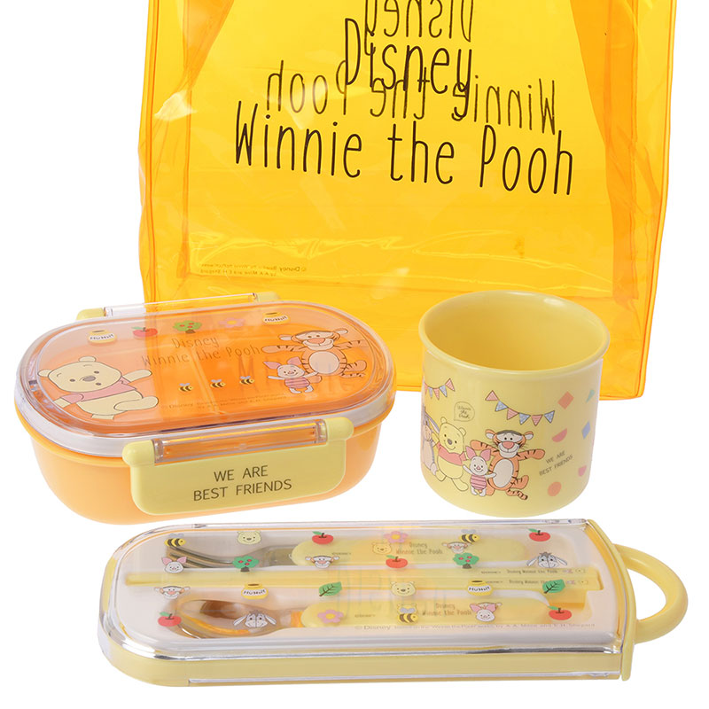 Winnie the Pooh & Friends Lunch Goods Set Shape Yellow Disney Store Japan