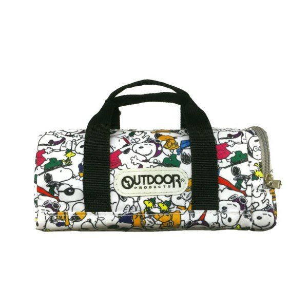 Snoopy OUTDOOR Pen Case Pencil Pouch Boston Bag shape White PEANUTS Japan