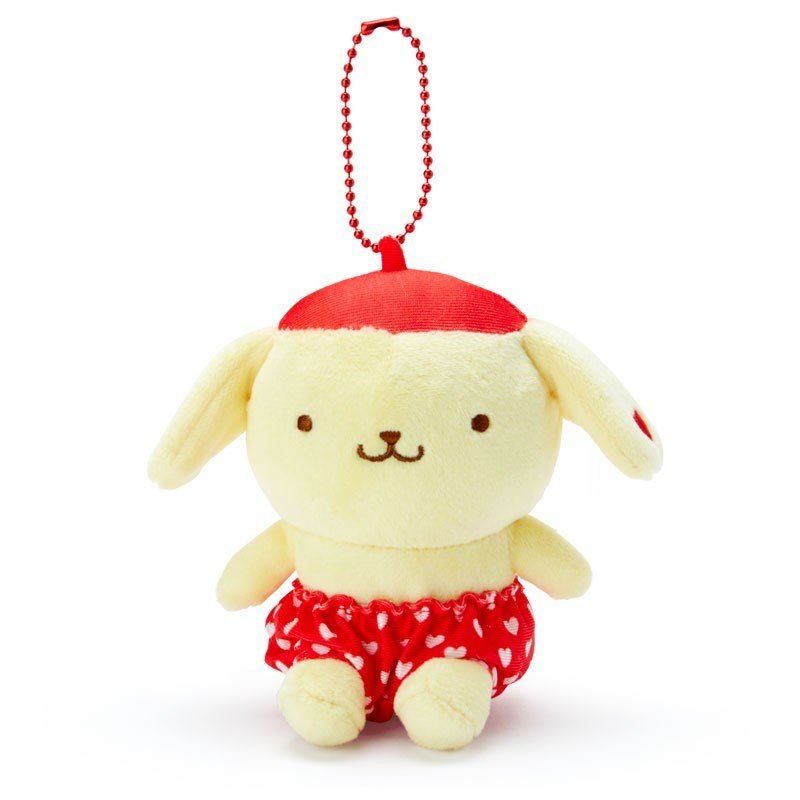 Pom Pom Purin Plush Mascot Holder Keychain Red Recommend Color Sanrio Japan