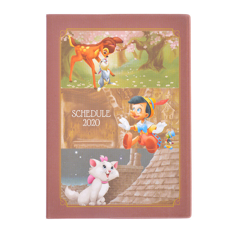 Dumbo Bambi Aristocats 2020 Schedule Book B6 Monthly Classic Disney Store Japan