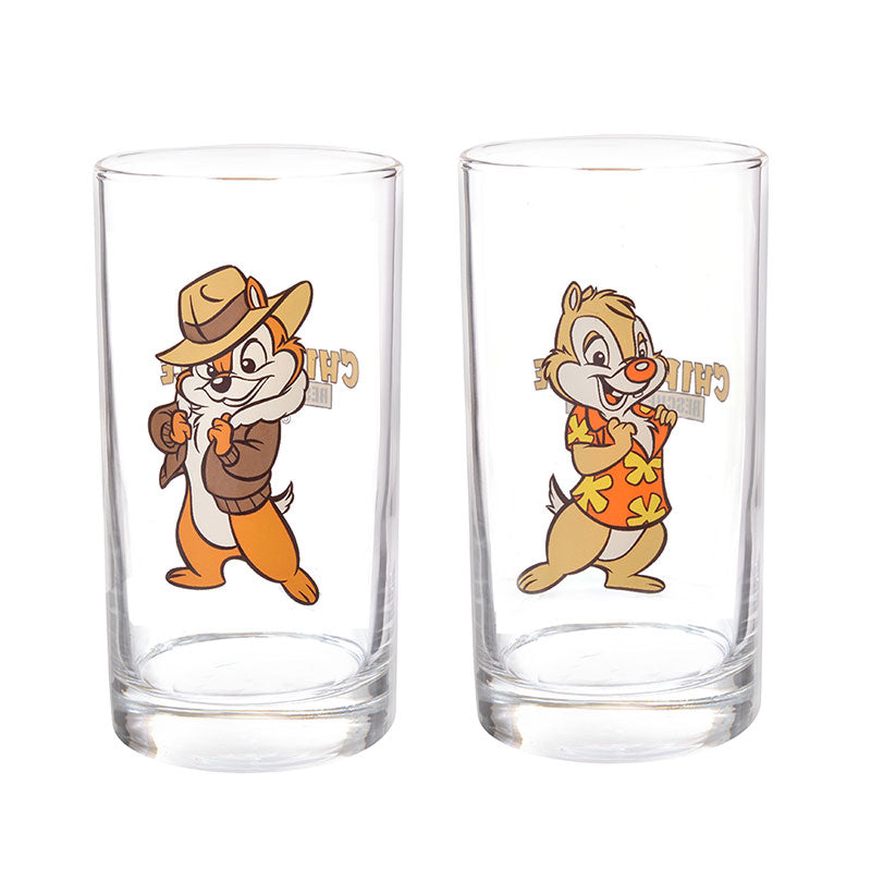 Chip & Dale Glass Cup Set Rescue Rangers 2019 Disney Store Japan