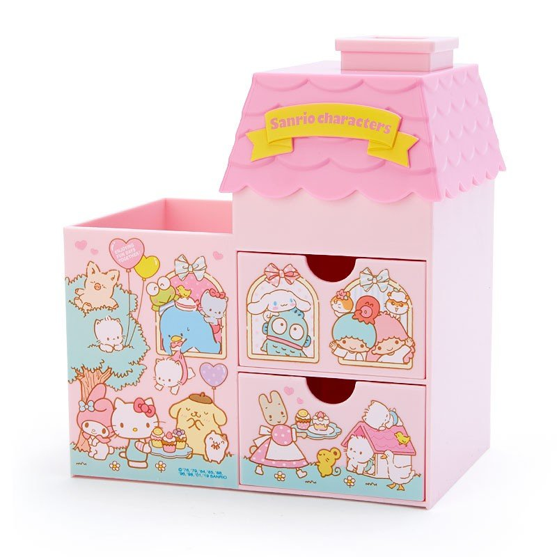 Sanrio Character Plastic Chest House shape Japan
