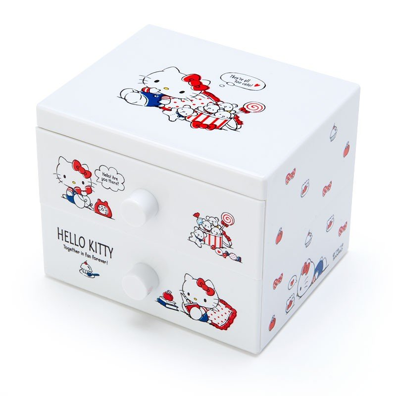 Hello Kitty mini Plastic Chest Sanrio Japan