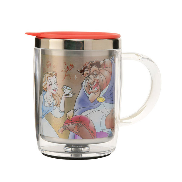 Belle Beauty and the Beast Stainless Mug Cup good laugh Disney Store Japan