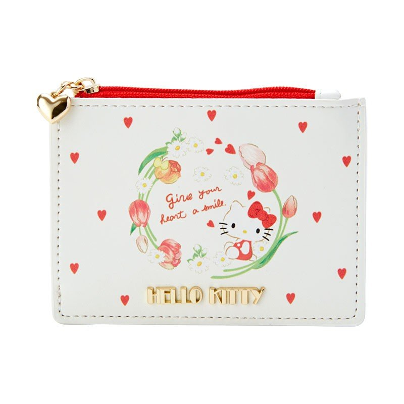 Hello Kitty Pass Case Key Holder White HAPPY SPRING Sanrio Japan