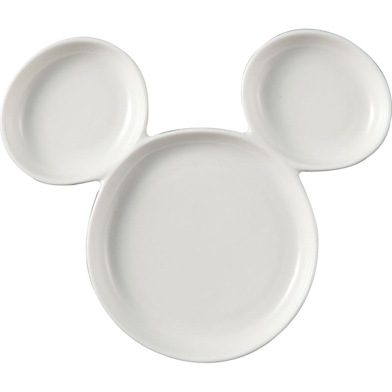 Mickey Porcelain Plate White Disney Store Japan