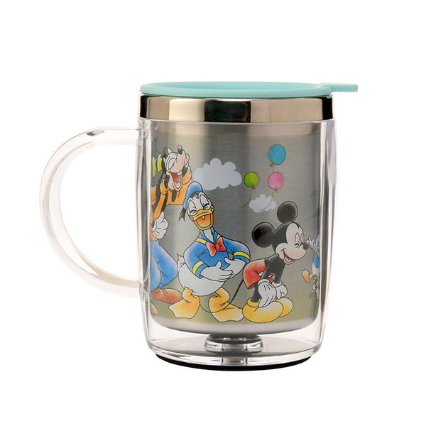 Mickey & Friends Stainless Mug Cup good laugh Disney Store Japan
