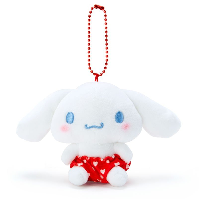 Cinnamoroll Plush Mascot Holder Keychain Red Recommend Color Sanrio Japan