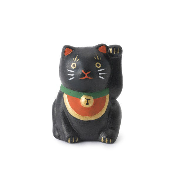 Japan Beckoning Cat Maneki Neko Lucky mini Black Left Hand for Customer