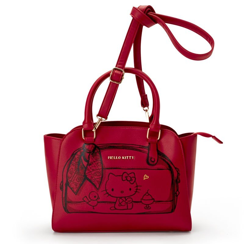 2WAY Tote Shoulder Bag Red HELLO KITTY ACTION Re:Touch Sanrio Japan