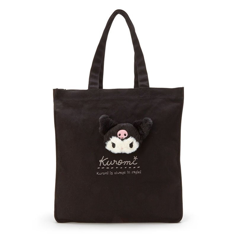 Kuromi Boa Plush Mascot Tote Bag Sanrio Japan