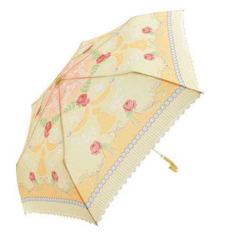 Belle Folding Umbrella Girly Silhouette Disney Store Japan Beauty and the Beast