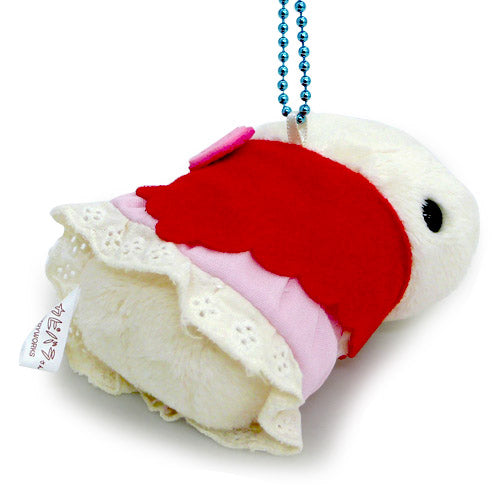 White san Plush Keychain Horoscope Virgo Kapibarasan Japan K0801