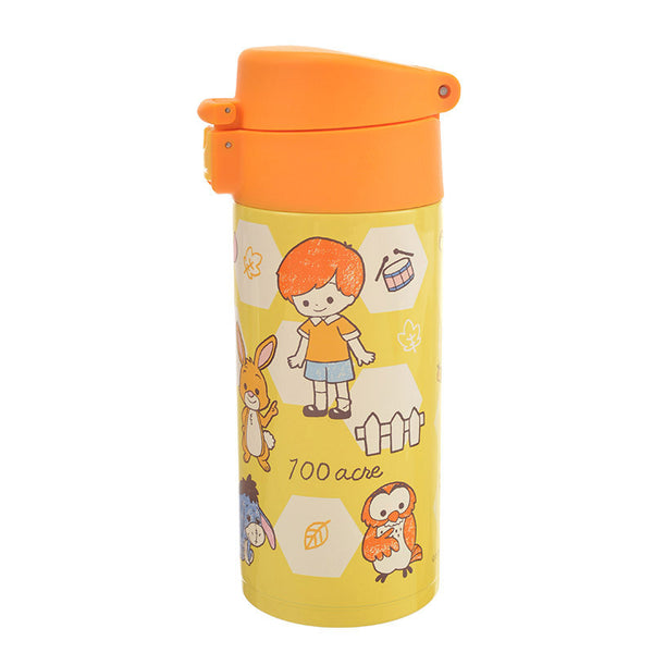 Winnie the Pooh & Friends Stainless Bottle Tumbler Row Disney Store Japan