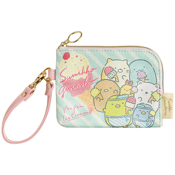 Sumikko Gurashi Pass Case Coin Pouch Pen Pen Ice Cream San-X Japan