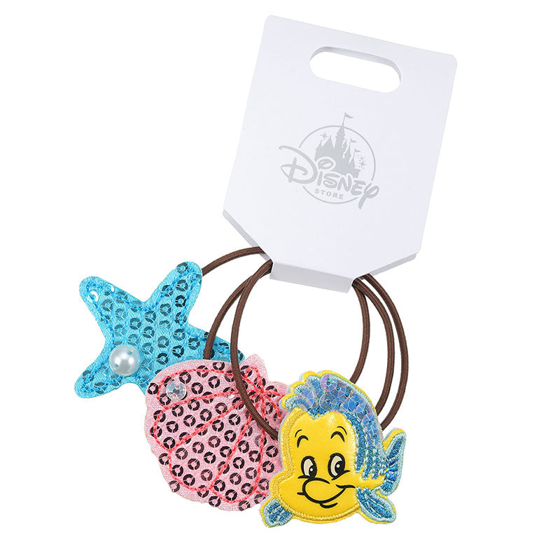 Little Mermaid Flounder Kids Ponytail Holder Kirakira Glitter Disney Store Japan