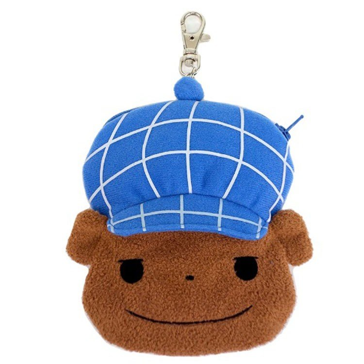 Brown Plush Pass Case Reel Oshiritantei Butt Detective Japan