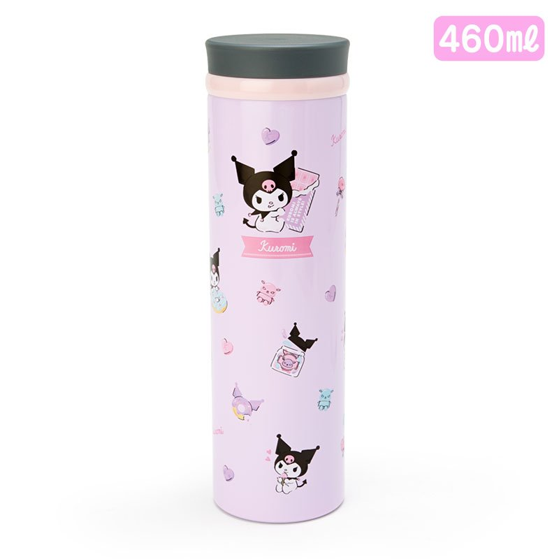 Kuromi Stainless Bottle 460ml Sanrio Japan