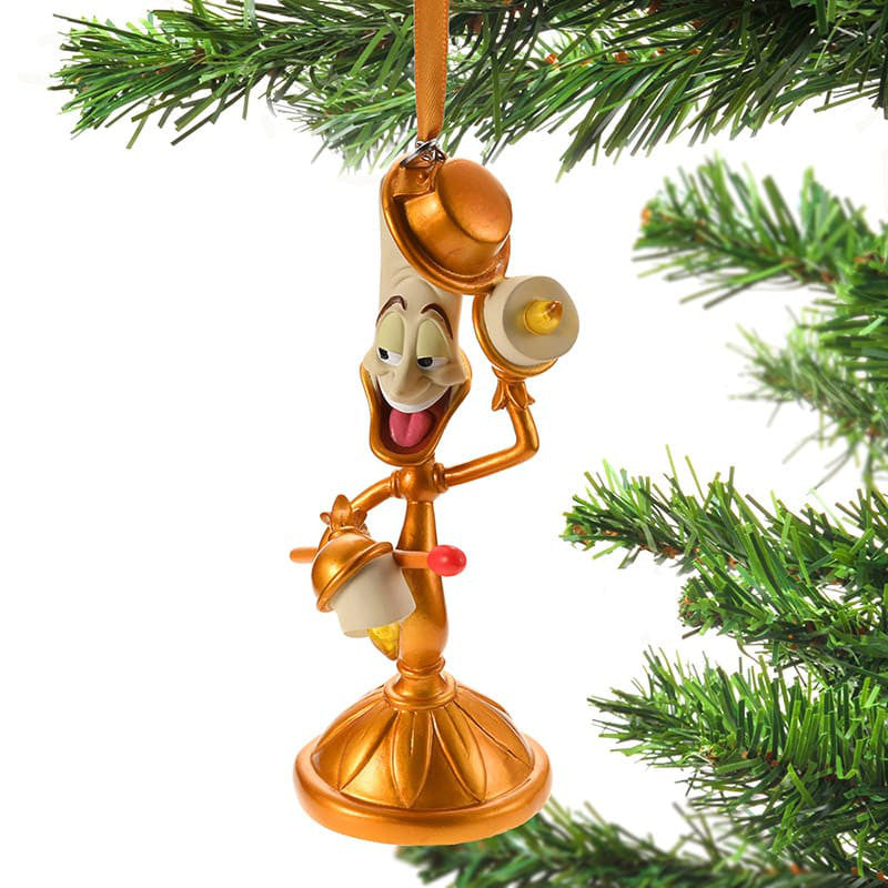 beauty and the beast lumiere christmas tree ornament light up disney store japan - Disney Beauty And The Beast Christmas Decorations