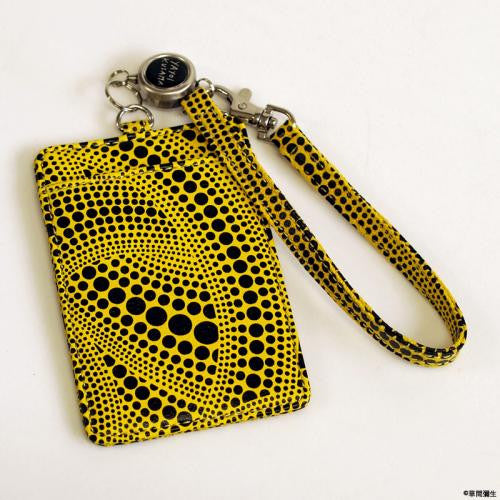 ID Card Pass Case Yellow Pumpkin Yayoi Kusama Japan