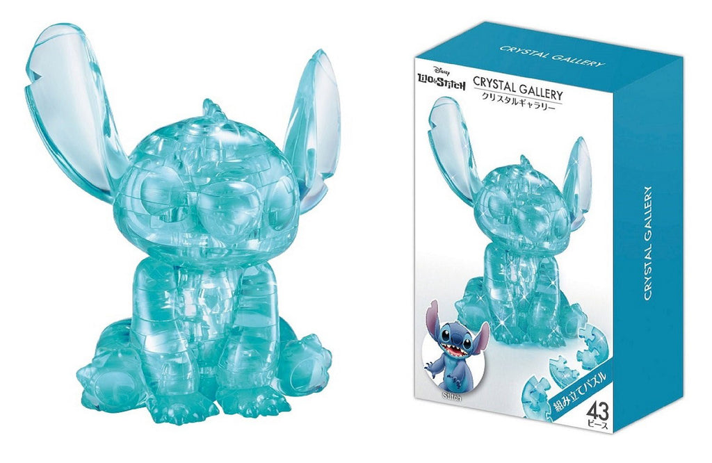 Stitch 43 pcs 3D Puzzle Crystal Gallery Disney Japan Hanayama