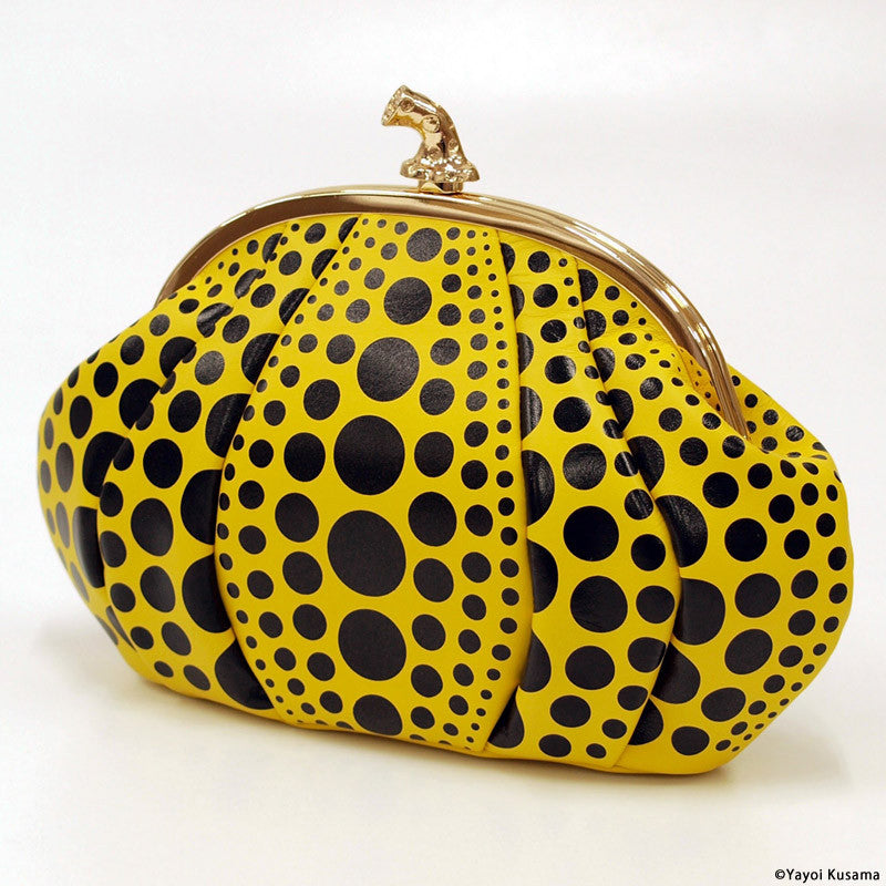 Clutch Bag Pumpkin Yayoi Kusama Japan with BOX