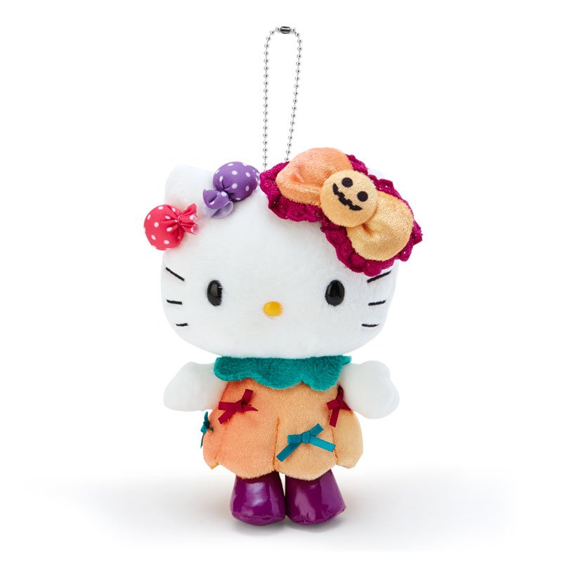 Hello Kitty Plush Mascot Holder Keychain Sanrio Japan Halloween 2020