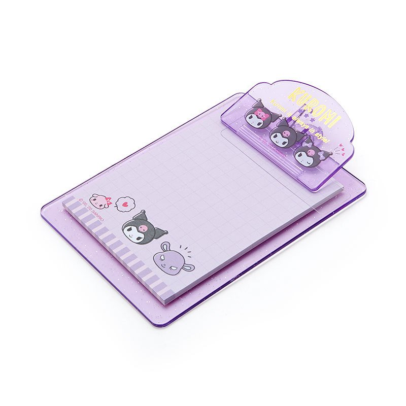 Kuromi mini Clipboard & Memo Face Sanrio Japan