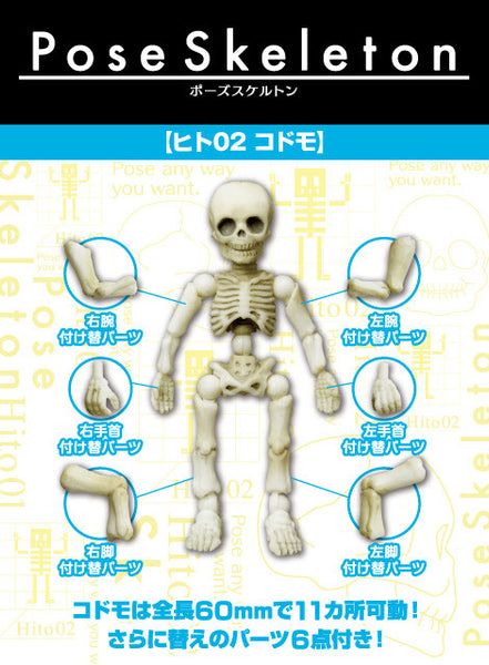 Re-ment Miniatures Figure Japan Pose Skeleton Human 02 Children 2.4 inch