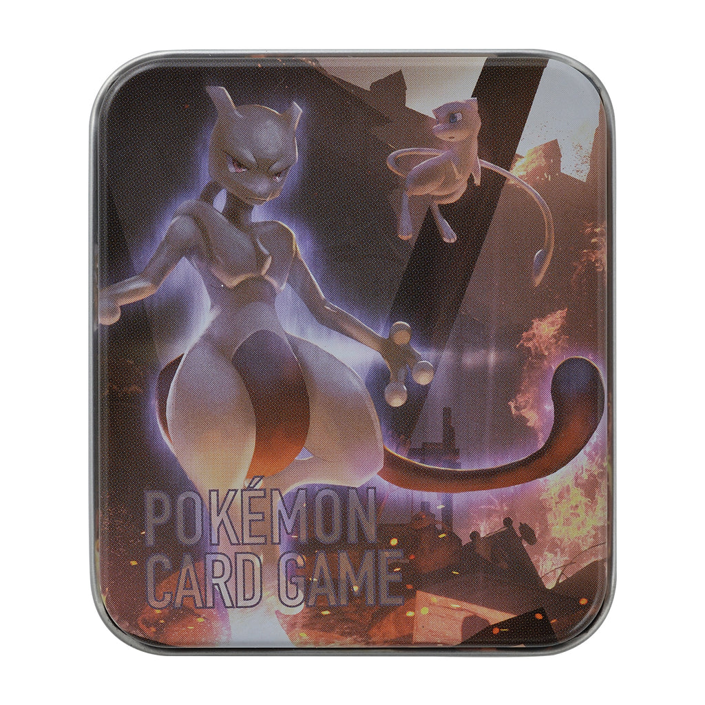 Mewtwo Damage Counter Tin Case Ver.3 Pokemon Center Japan Original