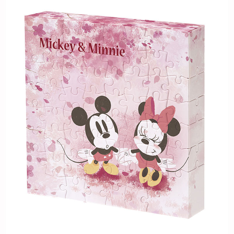 Mickey & Minnie Canvas Puzzle Flower Shower Disney Store Japan 56 pieces